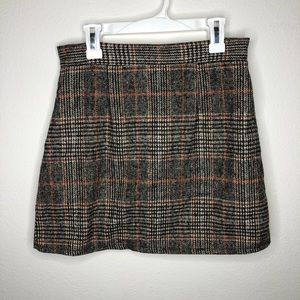 SHEIN Plaid ZIP Back Skirt